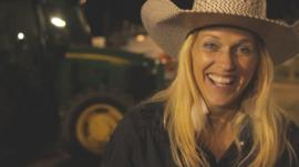 Esther Miller at the rodeo