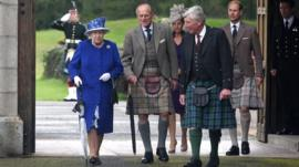 File photo of Royal Family at Balmoral