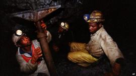 2 miners underground