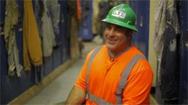 Tom Petrizzo in 'hoghouse'