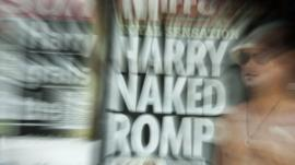 The front-page headlines and stories regarding nude pictures of Britain