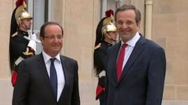 Francois Hollande and Antonis Samaras