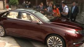 Ford Lincoln car on show in China