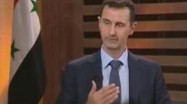 President Bashar al-Assad on al-Dunya TV