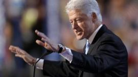 Bill Clinton at the Democratic convention, 2008