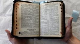 Elvis Presley's Bible on display