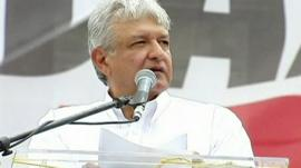 The runner-up in Mexico's presidential elections, Andres Manuel Lopez Obrador