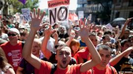 Spanish protest
