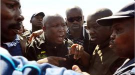 Firebrand politician Julius Malema