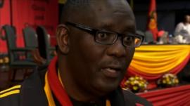 Zwelinzima Vavi, secretary general of South Africa's trade union federation