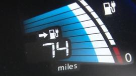 Electric car fuel gauge