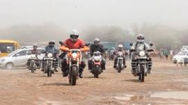 Women motorcylce riders in India