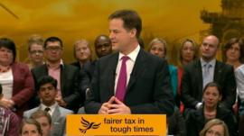 Nick Clegg at conference
