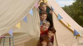 One Direction in video for new single Live While We're Young