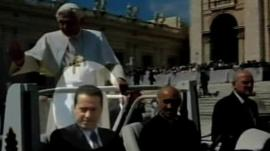 The Pope's ex-butler, Paolo Gabriele on the left