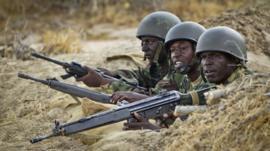 Kenyan troops in Somalia