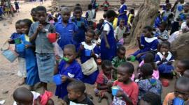 Children at Lirangwe Primary in Blantyre, Malawi
