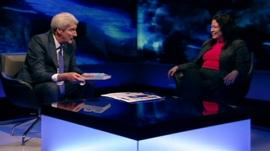 Jeremy Paxman and Professor Lesley Yellowlees
