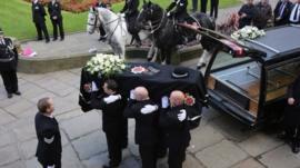 The coffin of Pc Nicola Hughes