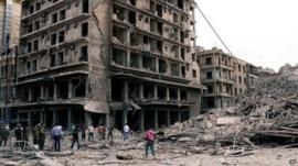 Aleppo bombings