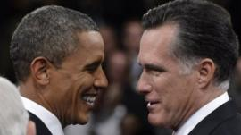 President Barack Obama and Republican presidential candidate Mitt Romney