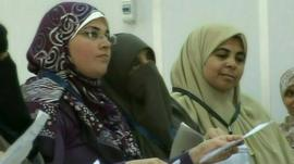 Muslim Brotherhood women fill 5 seat out of 213 won by the party last elections.