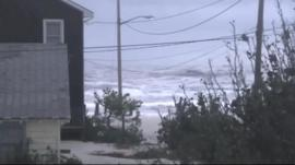 Hurricane Sandy hit the east coast of the US