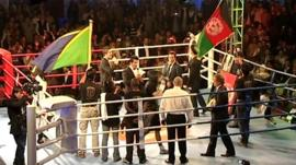 The boxing ring in Kabul