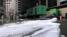 Pumping water in New York