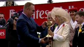 Duchess of Cornwall presenting trophy