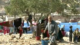 Aid agency camp