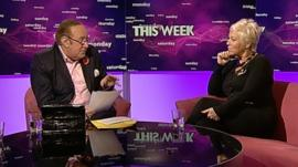 Andrew Neil and Denise Welch