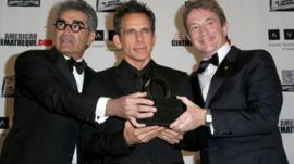 (L-R) Actors Eugene Levy, Ben Stiller and Martin Short