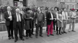 George Ferguson (c) and the 2012 Bristol mayor candidates