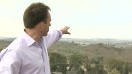 The BBC's Ben Brown says the Gaza-Israel border area remains quiet