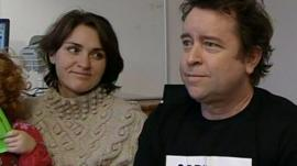 Kidney recipient Andy Williamson and his wife Suzy