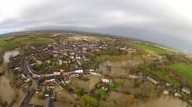Aerial view of Malmesbury on 25 November 2012
