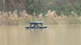 River Nene flooding in Wellingborough