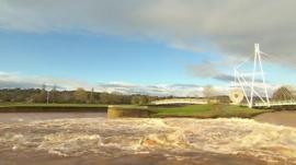 Flooding in Exeter