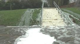 Flooding in Newcastle's Exhibition Park