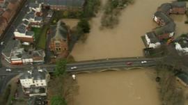 Evesham in flood