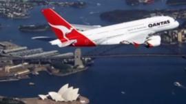 Qantas plane over Sydney