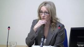 JK Rowling giving evidence at the Leveson inquiry