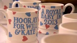 Royal baby Emma Bridgewater mugs