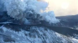 Russia's Plosky Tolbachik volcano