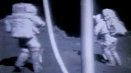 Astronauts on the moon