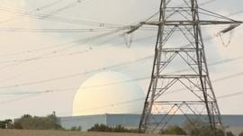 Power lines and power station