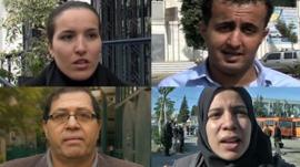 People from Tunisia, Yemen, Egypt and Algeria