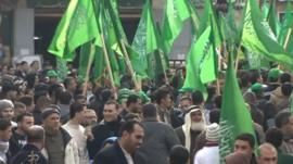 Hamas rally in the West Bank