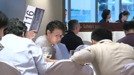 Wine auction in Hong Kong